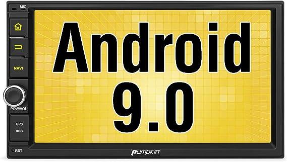 PUMPKIN Android 9.0 Autoradio 2 DIN GPS Radio de Coche Universal Soporte Navegador, Bluetooth, Control Volante, WiFi, con 7