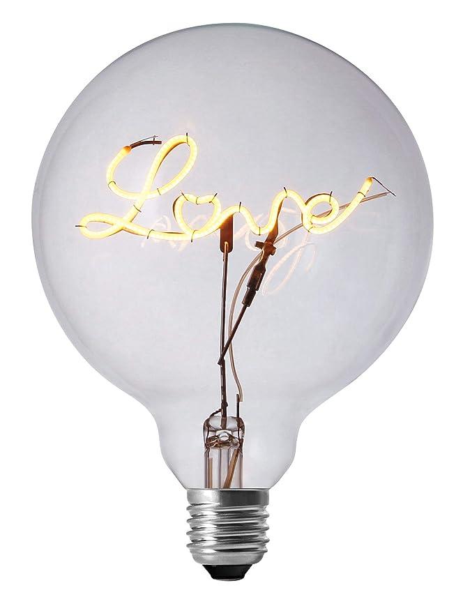 DarkSteve - Love LED Light Bulb - Edison Light Bulb, Modern Decorative Light, G125 Size, E26 Base, Dimmable (3w/110v) #1 Unique Gift - - Amazon.com