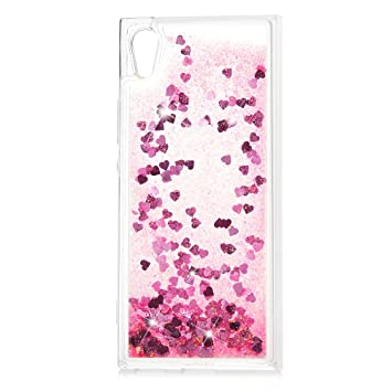 separation shoes 6ec12 bdf0f KASOS Sony Xperia XA1 Phone Case Glitter Liquid Flowing Sparkly Bling Stars  Quicksand Shockproof Protective Case Soft Gel TPU Silicone Cover Ultra ...