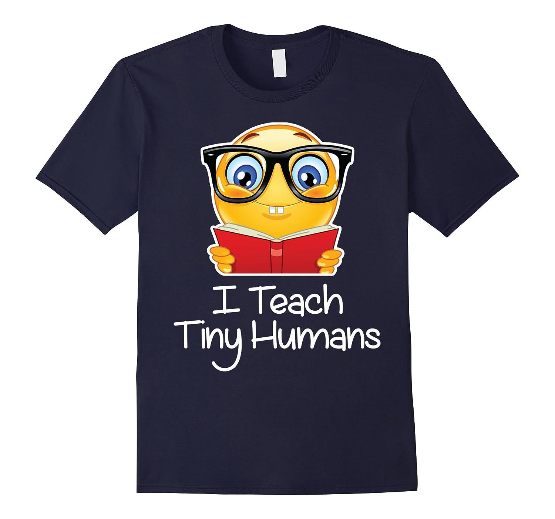 Teacher emoji TShirt Valentine Day I Teach Tiny Humans-FL