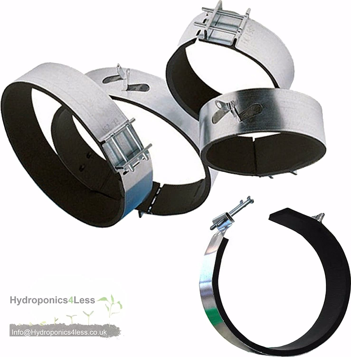 Ducting Hydroponic Fan Carbon Filter Padded Fast Clamp 4 5 6 8 10 & 12 Inch (4