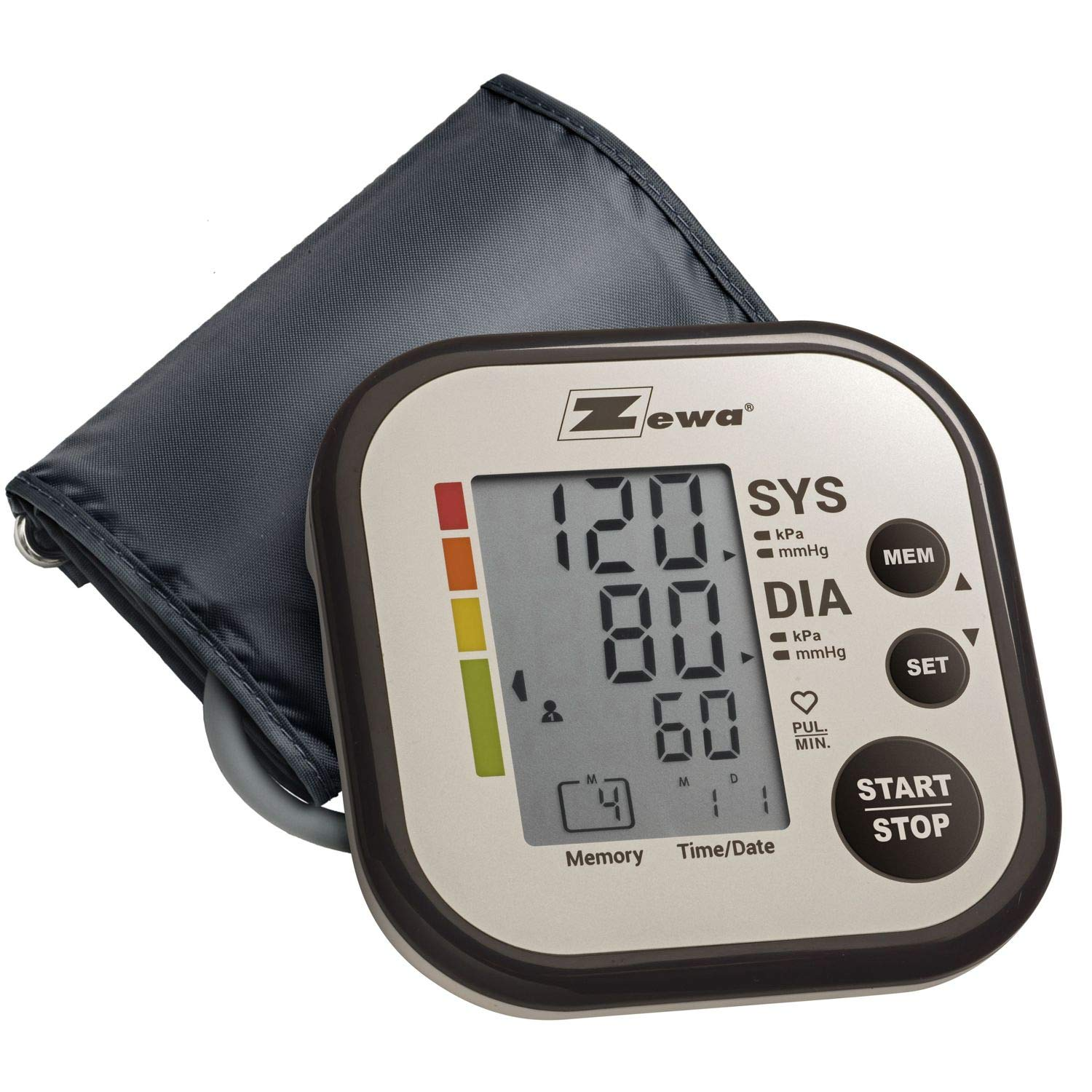Zewa Upper Arm Blood Pressure Monitor with Two User Mode 120 Reading Memory and Wide Range Cuff That fits Medium to Large arms 8.7 – 16.5