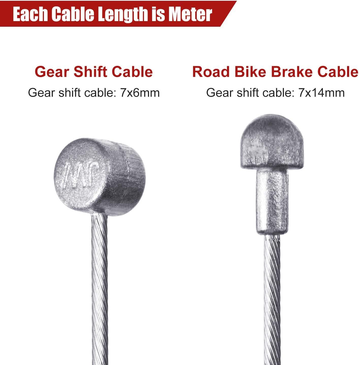 Boao Juego de 4 Piezas Carcasas de Cable deFreno Interior de Bicicleta Universal Reemplazo de Cable de Freno de Bicicleta para Bicicleta de Monta/ña y Carretera