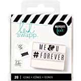 Heidi Swapp Light Box Icons Basics Inserts by American Crafts | 20 unique icons in black & white