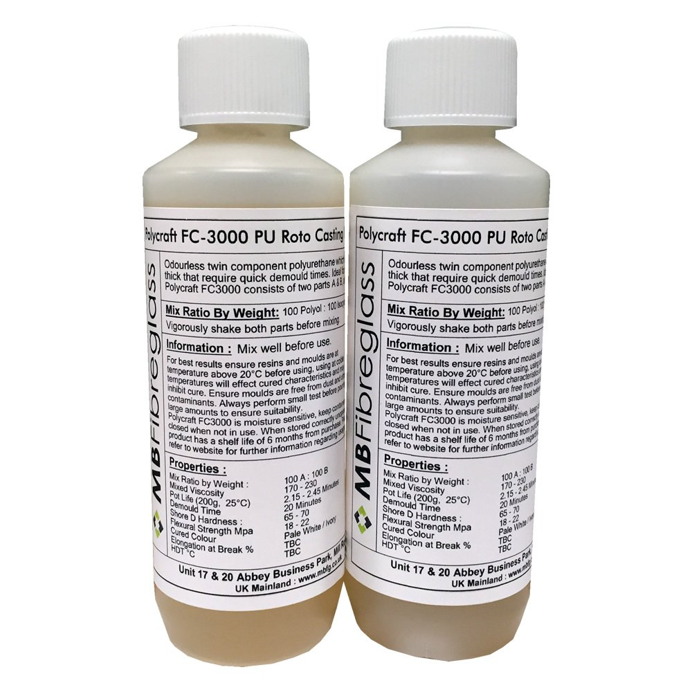 Polycraft FC 3000 Poliuretano Roto/centrifugadora resina para moldear de poliuretano - 500 G Kit (fc3000): Amazon.es: Bricolaje y herramientas