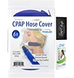 CPAP Hose Cover, Tubing Wrap - Soft Comfort Touch Washable Fleece Fabric, Zipper Insulator w/ Elastic Ends Reduces Rainout & Condensation, RespLabs (6 ft)