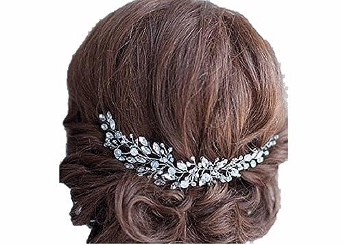 Damen Braut edel Hochzeit biegbar diadem Haarschmuck Accessoires Haarband Haardekoration Haar stylin...