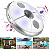 Texsens LED Umbrella Light Bluetooth Wireless Speaker USB Rechargeable Power Bank indoors and Outdoor speaker Color Changing Umbrella Pole Lights camping lamp