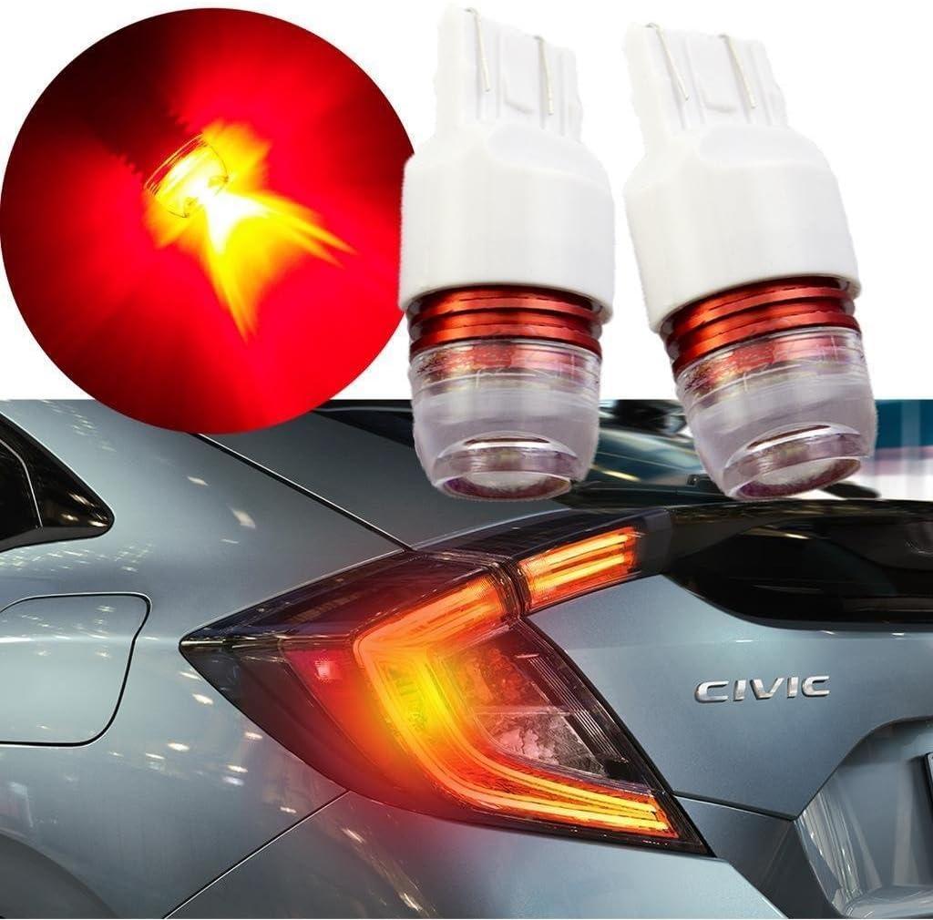 Xotic Tech 1157 Red Strobe Flashing Warning LED Bulb for Honda Accord Brake Stop Tail Light