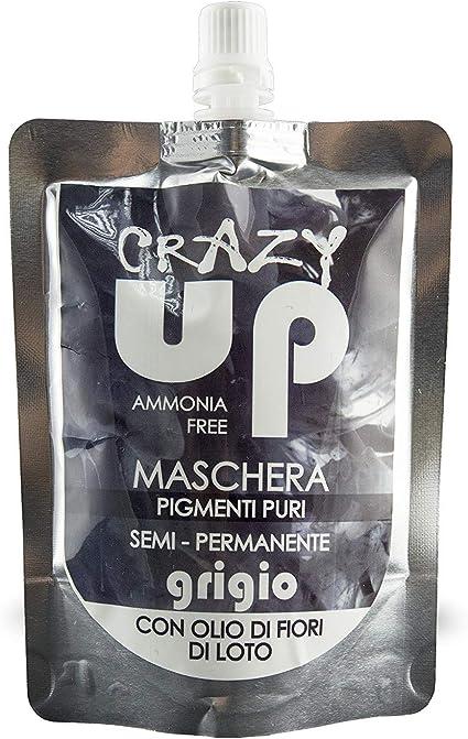 Crazy Up Mascarilla Colorante para el cabello Sin Amoniaco Semipermanente - Gris - 200 ml