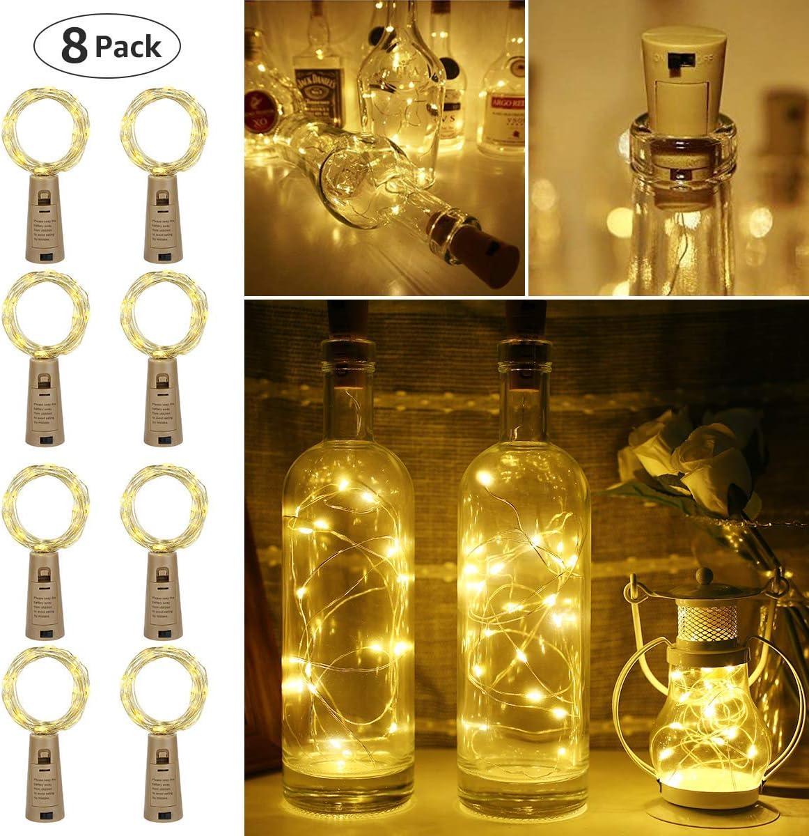 luz de Botella, Guirnaldas Luces LED con Corcho 2m 20 LED a Pilas ...