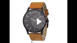 MVMT Classic Watches | 45 MM Mens Analog Minimalist Watch | Black Tan
