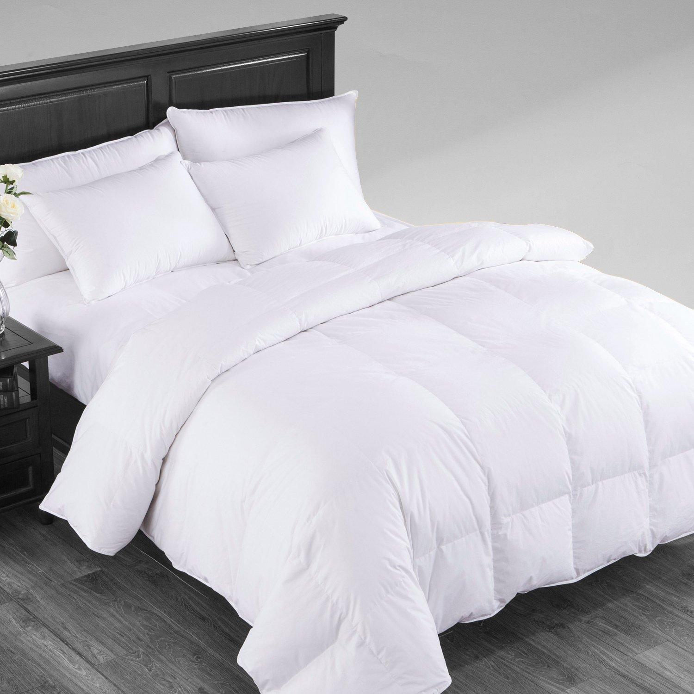 puredown Winter Down Comforter Baffle Box Design Duvet Insert 700 Filling Power Full/Queen