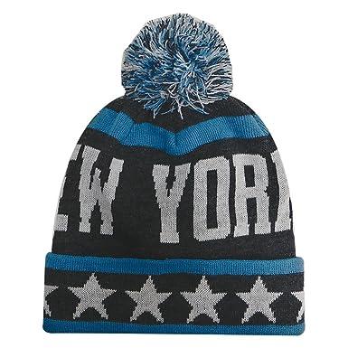 066b8bc75a1 New York City Hunter USA Large Stars Style Men s Winter Hats (Black Teal)