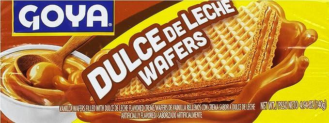 Goya Galletas Wafer Dulce de Leche - Paquete de 24 unidades