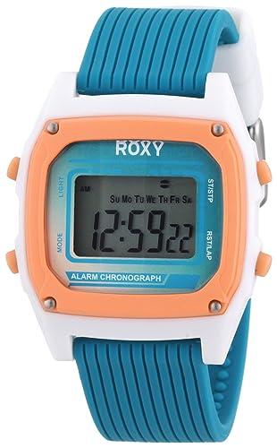Roxy W220DR 26T - Reloj digital de mujer de cuarzo con correa de plástico azul (