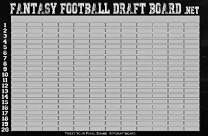 photo relating to Printable Fantasy Football Draft Board called 2019 Myth Soccer Draft Board Package + IDP Labels [550+ Avid gamers]