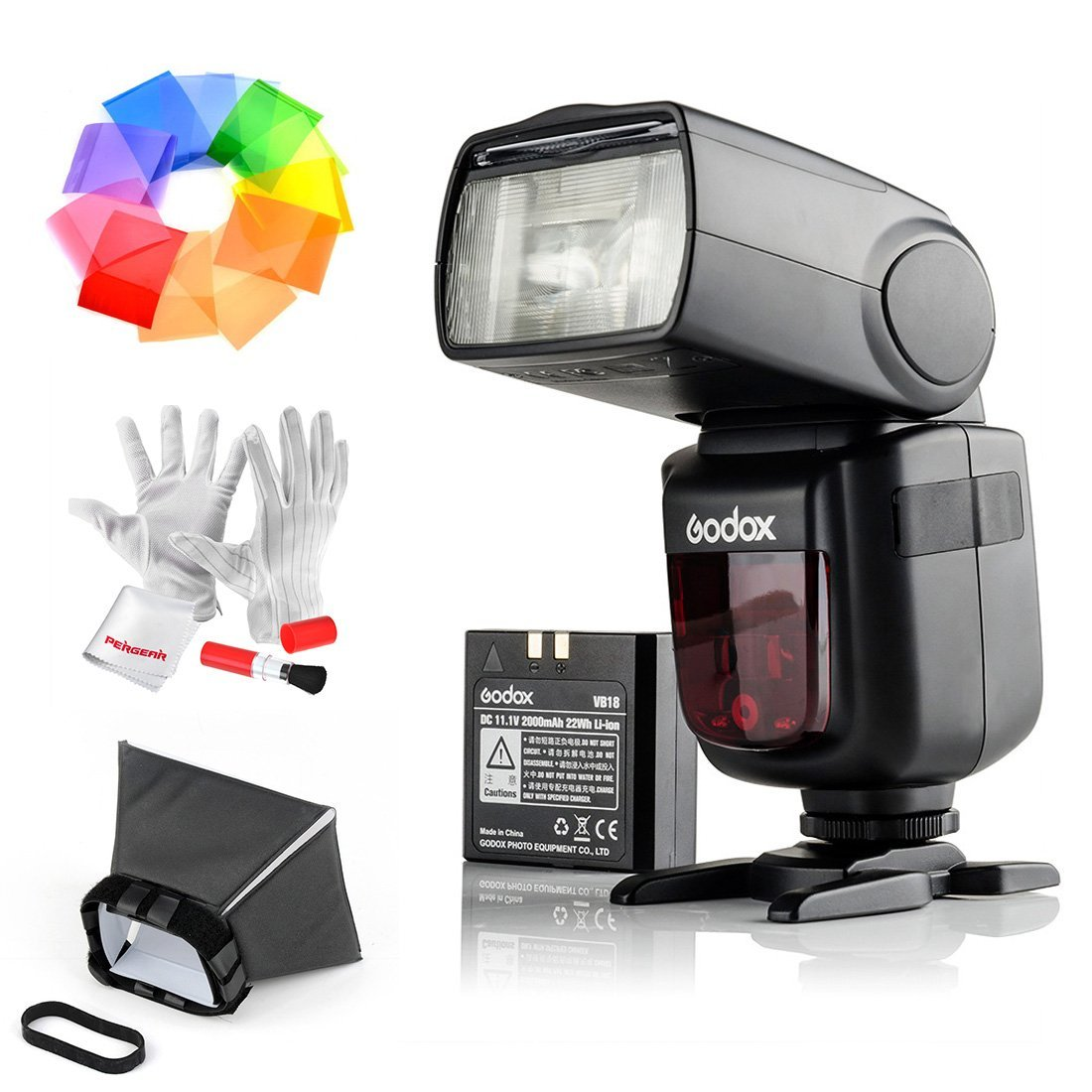 Godox Ving V860IIS 2.4G GN60 TTL HSS 1/8000s Li-on Battery Camera Flash Speedlite for Sony DSLR Cameras - 1.5S Recycle Time 650 Full Power Pops Supports TTL/M/Multi/S1/S2 by Godox