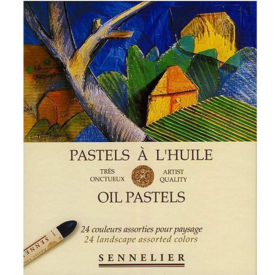 Sennelier Artists Oil Pastels - Set of 24 x Landscape Colours