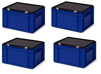Juego de cajas apilables (4 unidades) de transporte/almacenamiento Depósito Ktk 400/