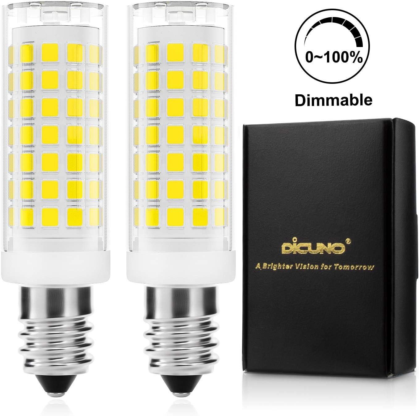 DiCUNO E14 4W LED Bombilla regulable, Blanco frío 5000K, 430LM, 220V, Horno microondas, Bombillas halógenas equivalentes de 40 W, E14 base estándar, 2 piezas: Amazon.es: Iluminación