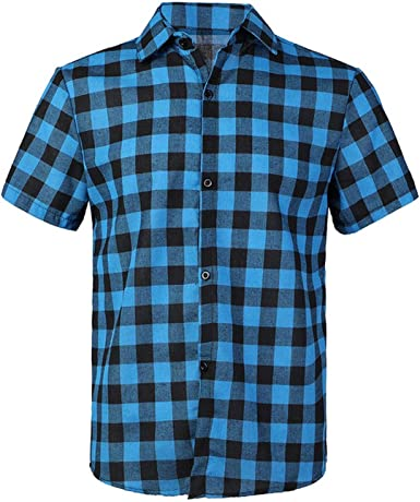 zencardery Camisa A Cuadros Roja Y Negra Camisas para Hombres ...