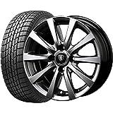 【2017年製】国産スタッドレスタイヤ(155/65R14)+ホイール(14インチ) 4本SET(1台分)■Cセット:マナレイG10[メタリックグレー]