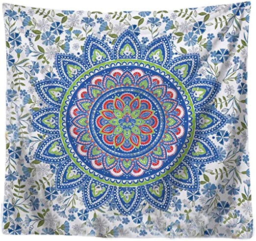 Amazon.com: Tapiz de mandala bohemio, hippie indio para ...