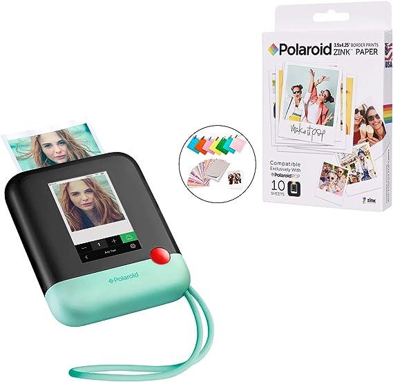 Polaroid Pop 2.0 2 en 1 Appareil Photo numérique à Impression instantanée (Vert) Kit photomaton avec Accessoires