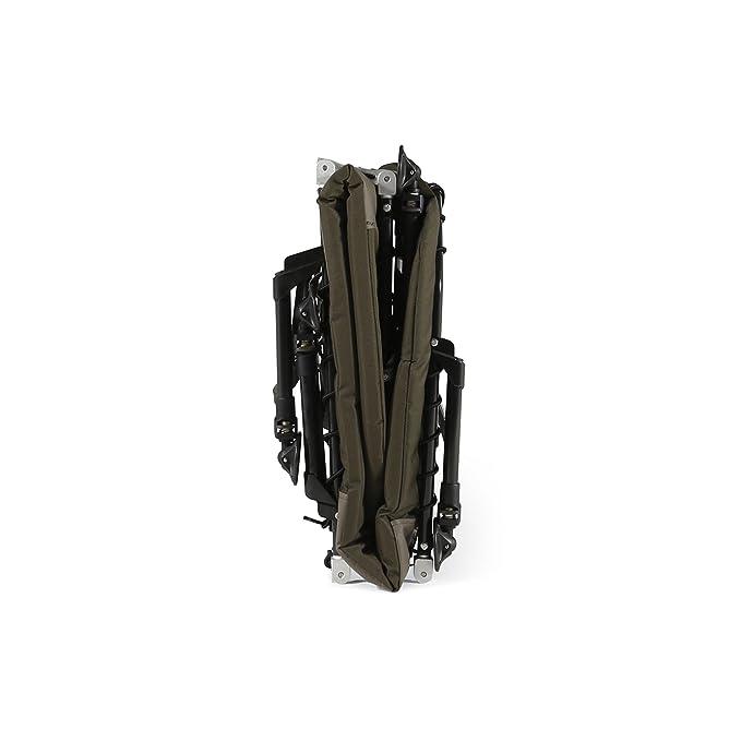 Cyprinus Compact LayFlat - Cama de pesca de carpas de aluminio ligero con almohada de espuma viscoelástica: Amazon.es: Deportes y aire libre
