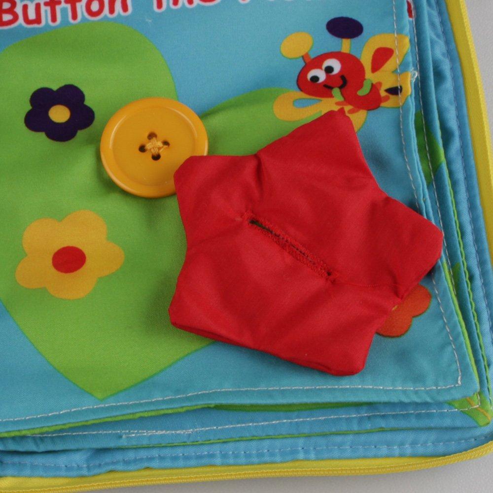 Portable et ouvrable Livre pour b/éb/és Fermeture /Éclair En forme de fleur Livre en tissu Jjovce