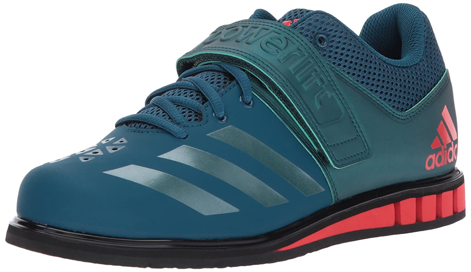 Petrol Night Mystery Green Core Red adidas Powerlift.3.1 shoes Men's Weightlifting