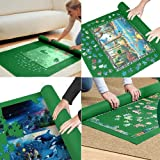 """Yobooom Puzzle Mat Roll up Jigsaw Puzzle Pad Puzzle Storage Felt Mat Puzzles Saver (35.6"""" x 24.1"""") - Fits up to 1000 Pieces"""