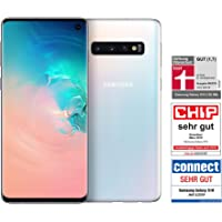 Samsung Galaxy S10 Smartphone (15.5cm (6.1 Zoll) 128GB interner Speicher, 8GB RAM, Prism White) - Deutsche Version