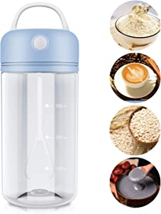 Protein Shaker Bottle, Malmes Portable Electric Blender Cup Mixer for Protein Powders Creatine Bulletproof Coffee, Pre-Workout Post Workout Tritan BPA-Free-Blue