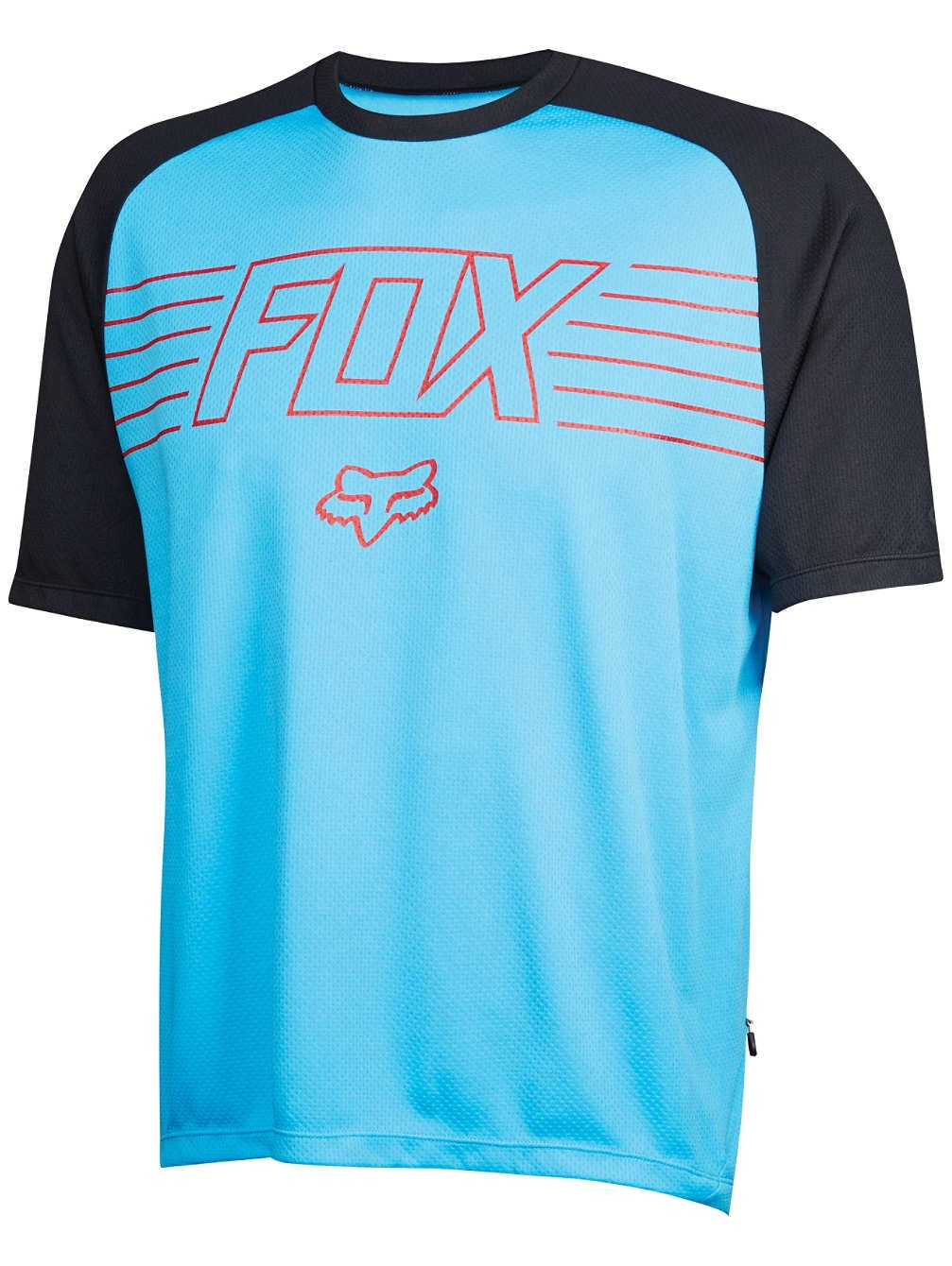 Fox Head Ranger Prints Short Sleeve MTB Bike Jersey Shirt (Cyan, M)