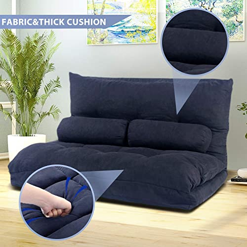 Floor Sofa Bed Adjustable Sleeper Bed Futon Bed Sofa Couches 5-Position Reclining Lazy Sofa