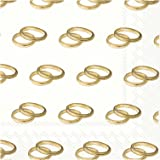 Ideal Home Range 20 Count Rings Gold Paper Luncheon Napkins