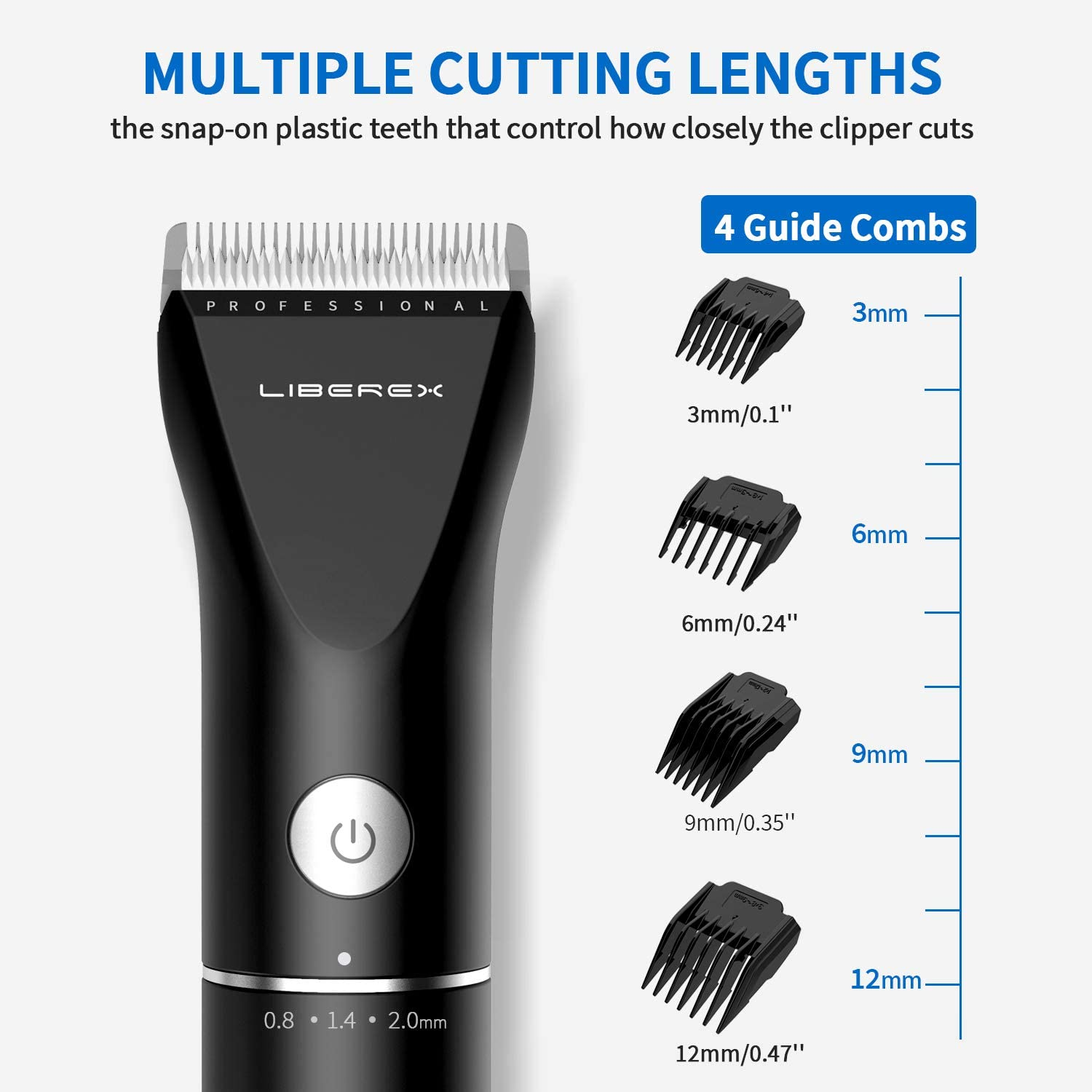 Cordless Electric Hair Clippers, Pro Rechargeable Hair Cutting Machine for Men
