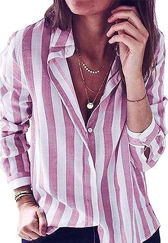 VONDA - Camisas - Manga larga - para mujer: Amazon.es: Ropa y accesorios