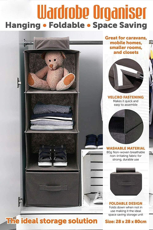 outlet online ADEPTNA Durable Wardrobe Closet Organiser Hanging 21 ...