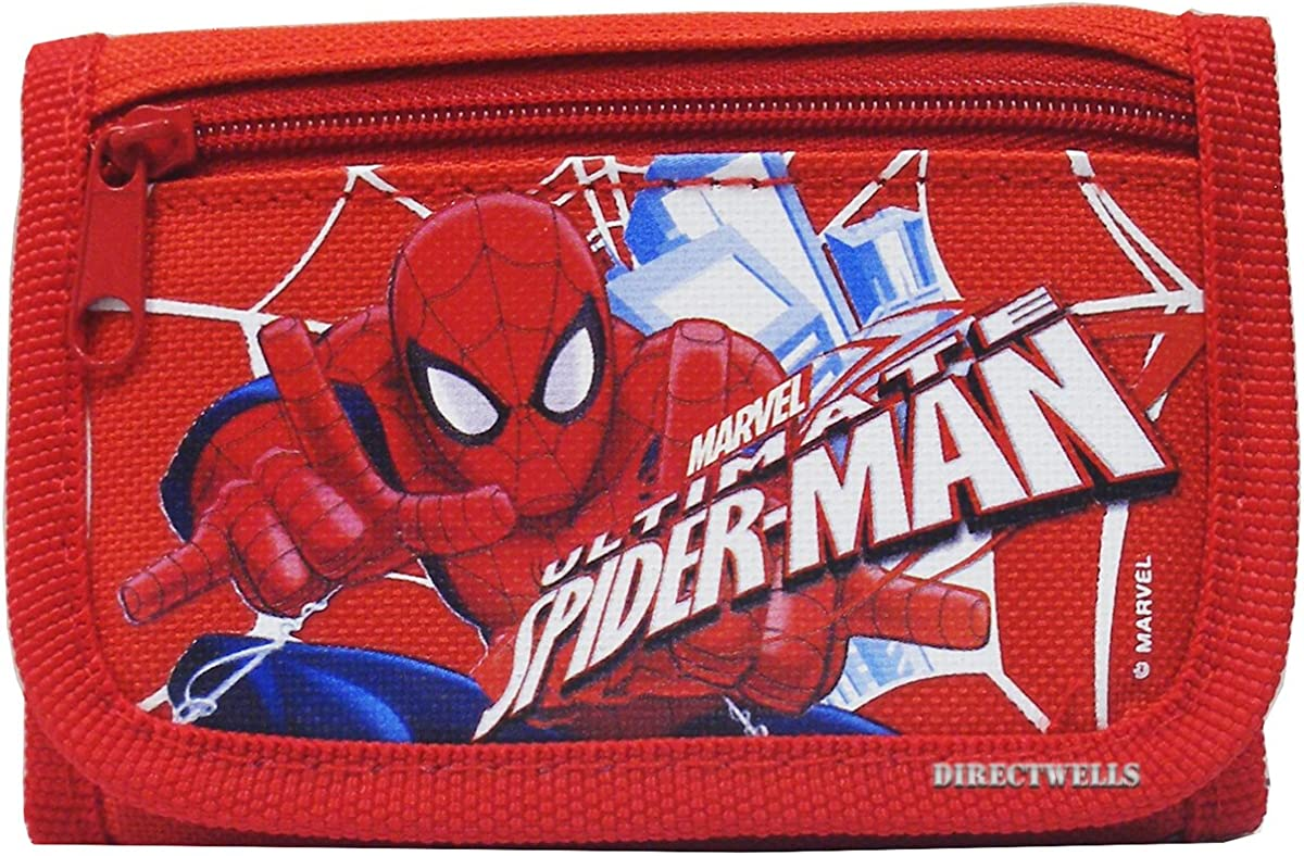 Marvel Spiderman Ultimate Authentic Licensed Trifold Children Wallet