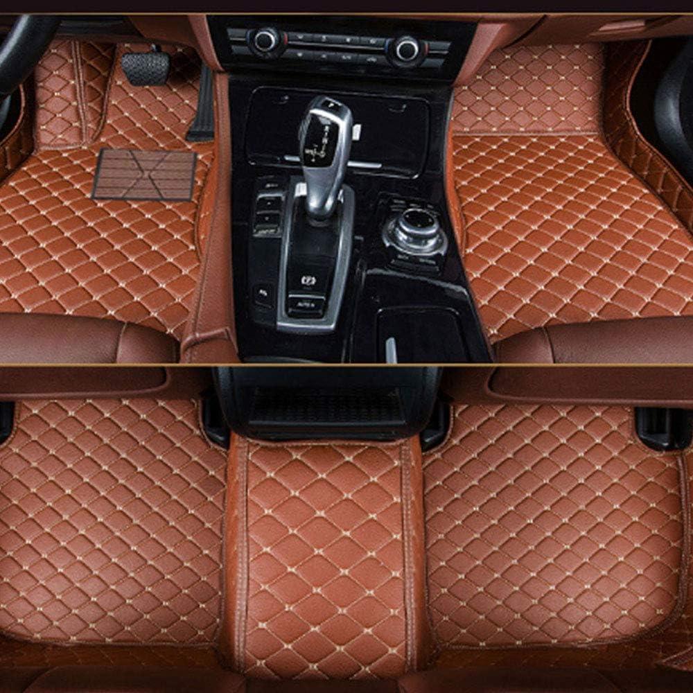 Muchkey Carpet Floor Mats Leather Car Mats Brown Car Floor Mats Fit for BMW X1 E84 2010-2014