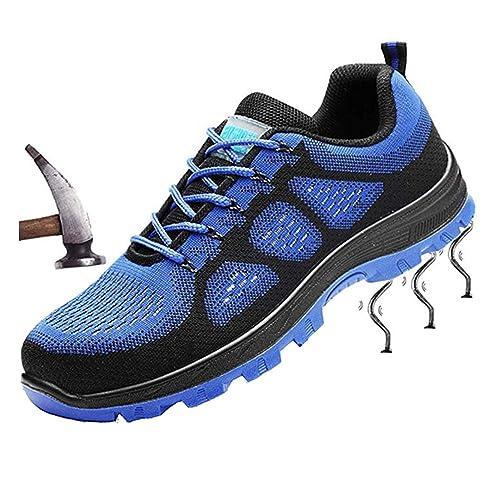 f84f93b283f tqgold Zapatillas de Seguridad para Hombre Mujer Impermeables Zapatos de  Trabajo con Punta de Acero Entrenador Unisex Zapatillas de Senderismo:  Amazon.es: ...