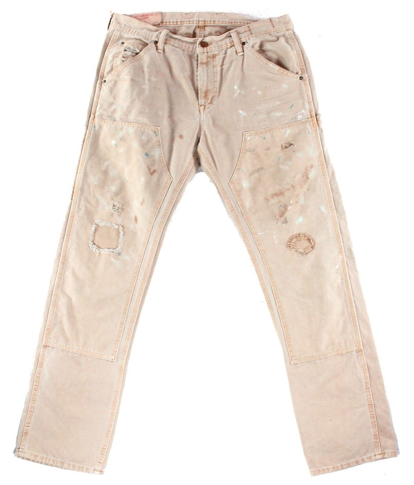 RALPH LAUREN Denim & Supply Men's Splattered Straight Jeans (Fowler, 33W x 32L)