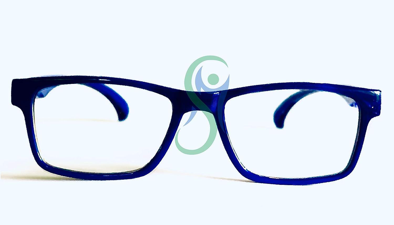 Anti LUCE BLU e UV MOVIMENTO SALUTE Occhiali Bambino Bambina PROTETTIVI con lenti NEUTRE Blu