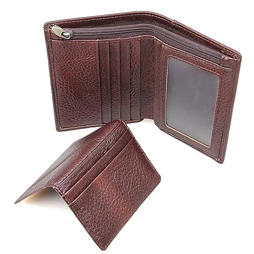 640fd0ed0b39 Amazon.com: Bi-Burning Men RFID Blocking Leather Wallet Vintage ID ...