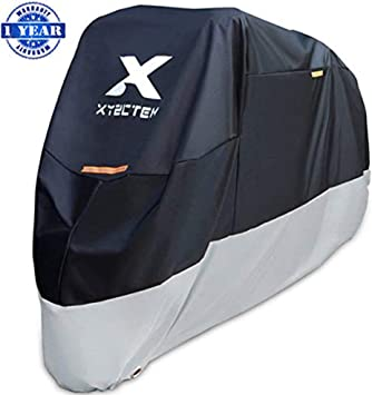 Motorcycle Cover,WDLHQC Waterproof Motorcycle Cover All Weather Outdoor Protection,Oxford Durable /& Tear Proof,Precision Fit for 96 inch Motors