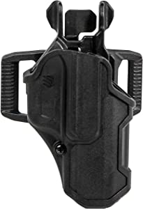 BLACKHAWK T-Series L2C Compact Holster , Black, Glock 17 Black RH