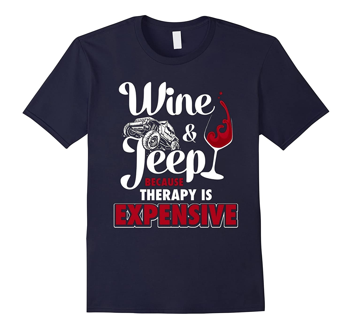 a974d603 Mens Proud Papi Awesome Son Father Day Gift T-shirt Best Sale-RT. Wine Jeep  - Because Therapy is Expensive Shirt 2016-RT